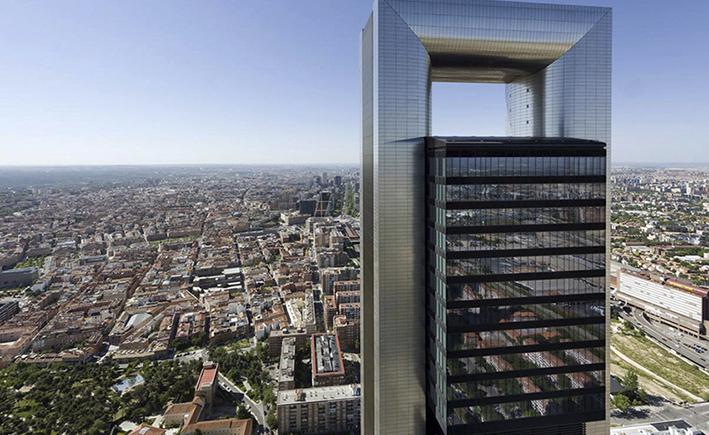 torre caja madrid vista aerea